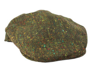 New Irish Tweed Caps Brown Herringbone Made in Ireland John Hanly /& Co.