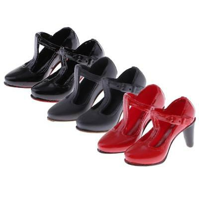 1//6 Scale High Heeled Mary Jane Shoes Accessories for 12/'/' Female Action Figures