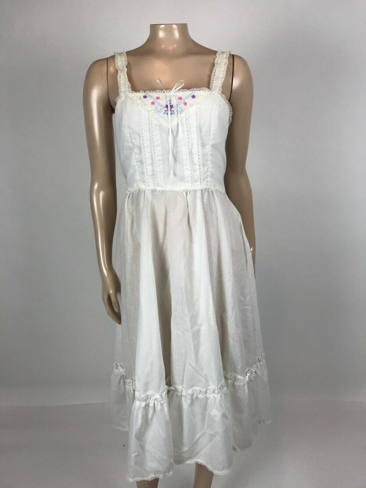 Vintage 70's Gunne Sax Women's Dress 9 cotton Flo… - image 1