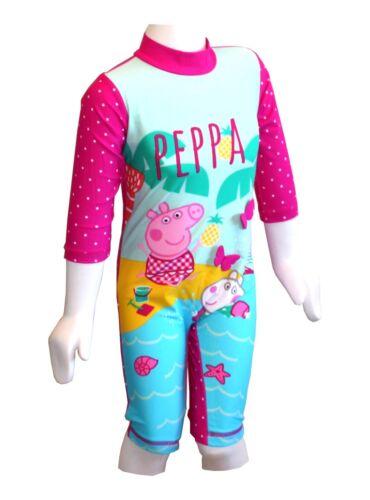 GIRLS PEPPA PIG UV 40 TU SUN PROTECTION SWIM SUIT SWIMMING 9 MNTHS TO 5 YEARS
