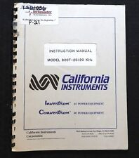 CALIFORNIA INSTRUMENTS MODEL 800T 20/20 KHz OPERATING INSTRUCTION MANUAL