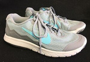 NIKE FLEX EXPERIENCE RN 4 WOMENS SHOES 5 Cool Blue Grey Gray White 749178 002