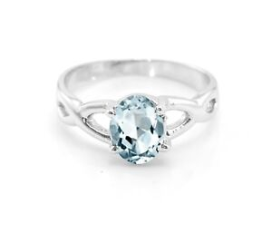 925-Sterling-Silver-Natural-Blue-Aquamarine-Ring-Solitaire-Gemstone-Size-5-11