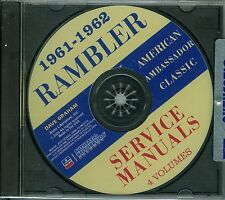 1961-62  AMC RAMBLER AMERICAN AMBASSADOR CLASSIC  SHOP  MANUAL ON CD