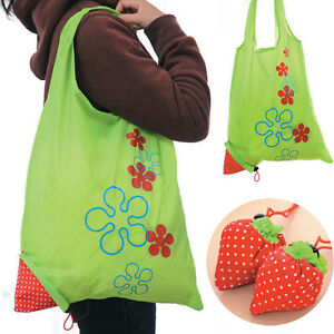 Image Is Loading Eco Ping Bag Strawberry Reusable Foldable Tote