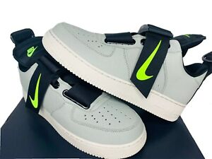NEW-SIZES-10-13-MEN-Nike-Air-Force-1-Utility-AF1-Casual-Shoe-Sneaker-Volt-Spruce