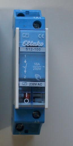 S12-100-230V Stromstoßschalter 21100030 Eltako Stromstoßschalter f.Reihe