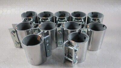11 Stück Rohrverbinder Ø55x100mm Stahl #29137 Fuerte Resistencia Al Calor Y Al Desgaste.