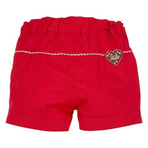 Bondi bébé fille costumes short pantalon court Alpes Bonheur NEUF 68-116 rouge marron