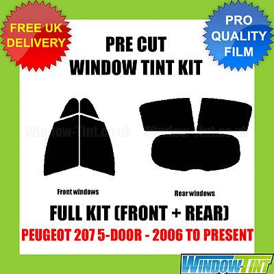 20/% Dark Smoke 2006 to present Peugeot 207 5-door Rear windows Pre cut window tint