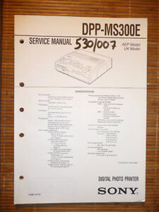 ZuverläSsig Service-manual Für Sony Dpp-ms300e,original Tv, Video & Audio