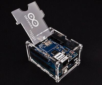 Arduino Uno & Ethernet Shield Case Enclosure Gloss Transparent Acrylic Box