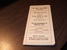 OCTOBER 1963 NY&LB NEW YORK & LONG BRANCH JOINT PRR/CNJ EMPLOYEE TIMETABLE #358