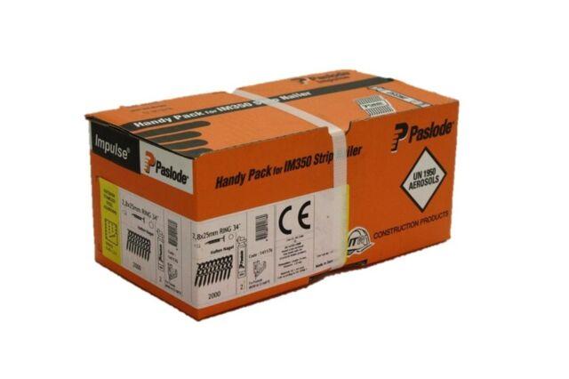 origi. Paslode Hafte Pack 2,8 x 25 MM V2A Ring NEU OVP Befestigungstechnik 14117