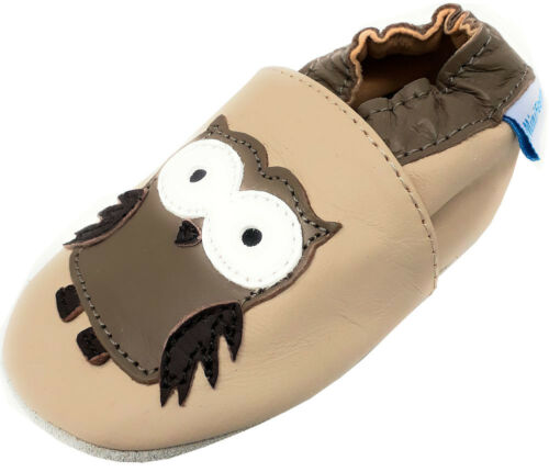 MINIFEET SOFT LEATHER BABY SHOES 0-6,6-12,12-18,18-24 Months /& 2-3 Years OWLS