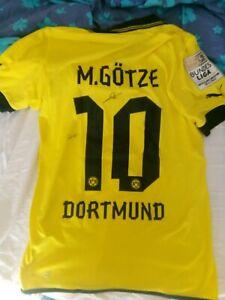 Dettagli su Maglia Shirt Borussia Dortmund autografata Mario Gotze e Levandosky Puma