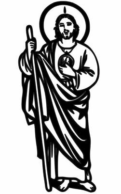 San Judas Tadeo Vinyl Decal Sticker For Cars Laptops And