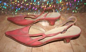 a3bd06bc0a993c Image is loading DRIES-VAN-NOTEN-Pointy-Toe-Slingback-Distressed-Leather-