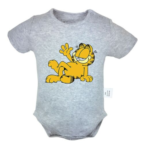 Garfield Cat Newborn Jumpsuit Unisex Baby Romper Bodysuit Infant Clothes Outfits