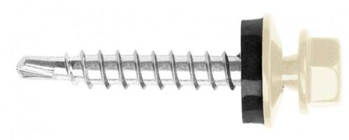 Trapezblech Schrauben Bohrschrauben 4,8 x 60 mm 100 Stück RAL 9001
