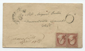 1859-Moorefield-Ohio-2x-26-on-cover-to-Canada-5053