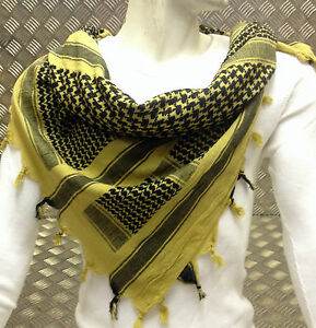 100-Cotton-Shemagh-Arab-Scarf-Pashmina-Wrap-Sarong-Beige-amp-Black-NEW