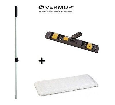 Wischset 50 cm Bodenwischer Set Klapphalter 3 Mikrofaser Mopp Mop Wischmop