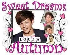 """ONE DIRECTION LOUIS TOMLINSON Personalized PILLOWCASE #2 """"Sweet Dreams"""" Any NAME"""