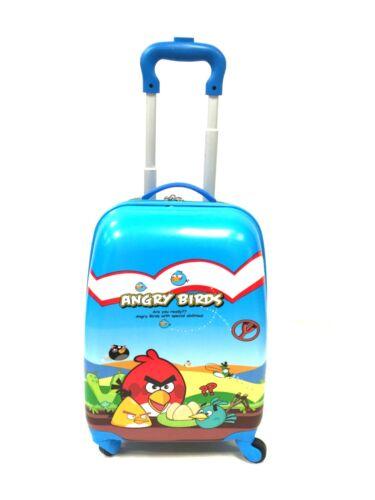 Bambini Angry Birds Viaggio Vacanza Valigia Rigida 4 Ruote Borsa UK venditore!
