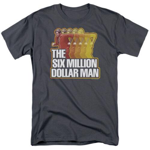 Six Million Dollar Man Classic TV Show Logo RUN FAST T-Shirt All Sizes
