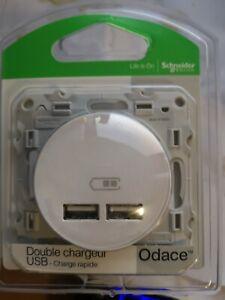 SCHNEIDER Odace Prise USB double