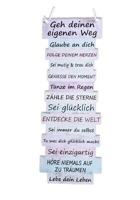 Schild Spruche Lebenseinstellung 15 X 41 Cm Plankenschild