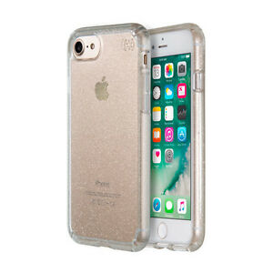 premium selection ec93c 3919e Speck Presidio Clear and Gold Glitter Case for iPhone 7