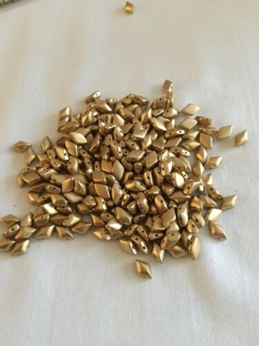 Matubo GemDuo Beads Bronze Pale Gold 10 Grams