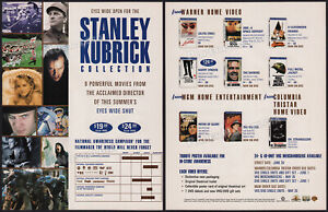 STANLEY-KUBRICK-Coll-Orig-1999-Trade-AD-ADVERTISEMENT-2001-A-Space-Odyssey