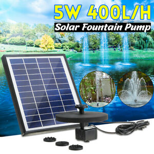 400L-H-Solar-Panel-Powered-Water-Pump-Feature-Garden-Pool-Pond-Aquarium-Fountain