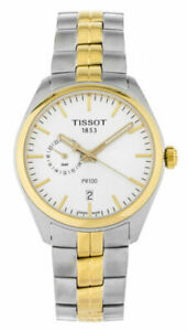 PR 100 Silver Dial Men's Gold Tone Stainless Steel Watch T101.452.33.031.00