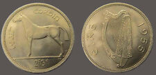 Ireland 1955 Half Crown, Gorgeous Superb Gem BU, Scarce Date. #29