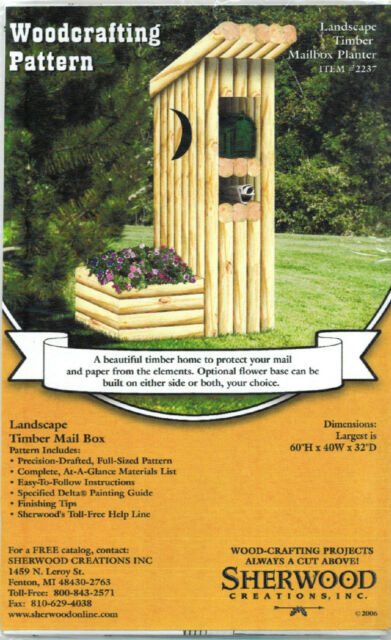 Mailbox Timber Planter Woodworking Plans by Sherwood Creations