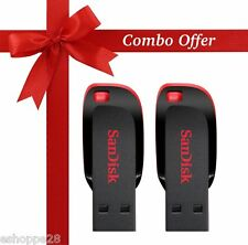 8GB SANDISK BLADE PEN DRIVE - COMBO PACK OF 2 Pcs.