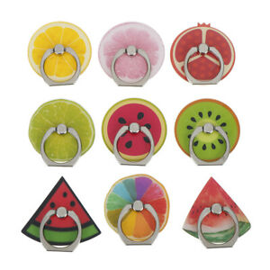 Universal-fruit-phone-holder-colorful-mount-grip-stand-360-degree-finger-ring-wr
