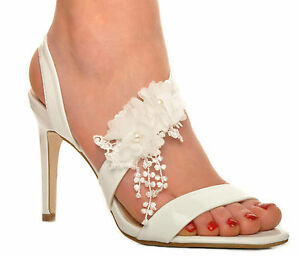 off white wedding shoes white flower wedding high heels patent sandals bridal 6227