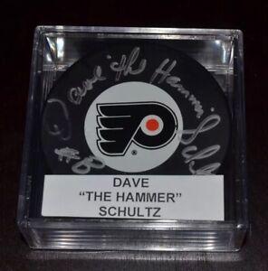 Dave-Schultz-Philadelphia-Flyer-Autogaphed-Puck-FREE-SHIPPING