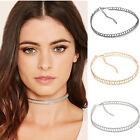 Retro Gothic Simple Design Gold Silver Wrap Choker Necklace Women Punk Jewelry