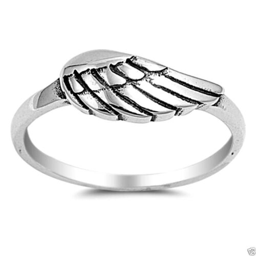 USA Seller Wing Ring Sterling Silver 925 Plain Best Price Jewelry Selectable