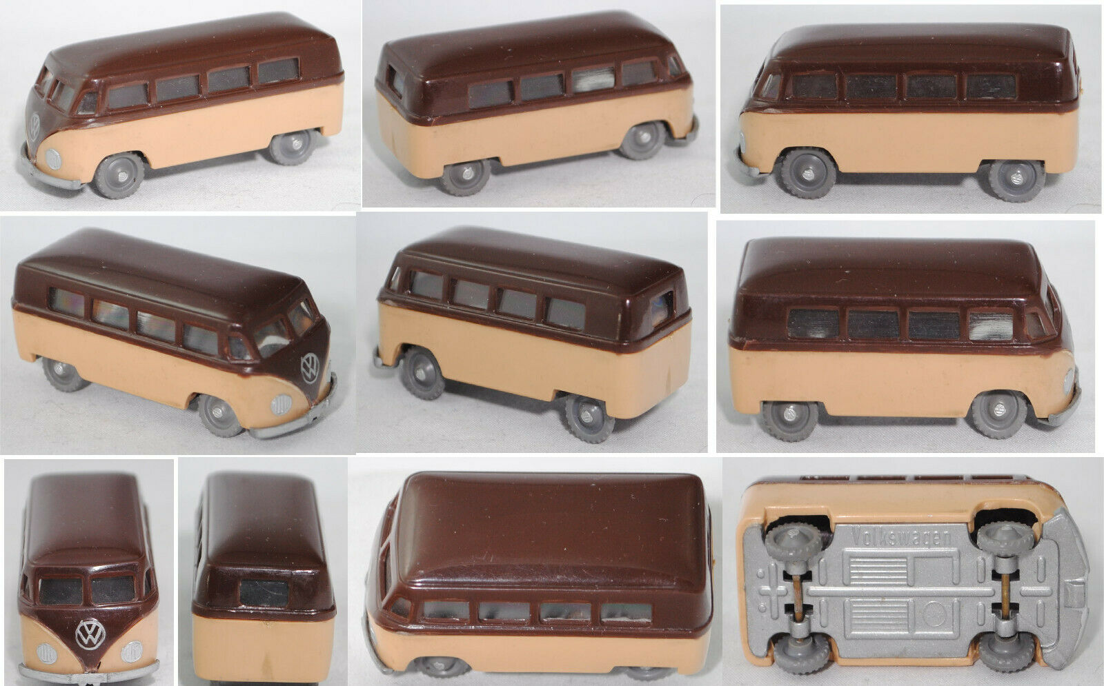 Siku plastic V16 VW COMBO (type 2 T1) Chocolate  marron Beige  le réseau le plus bas