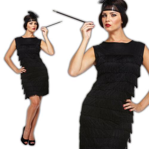 1920s Peaky Blinder Charleston Great Gatsby Womens Flapper Dress Fancy Costume