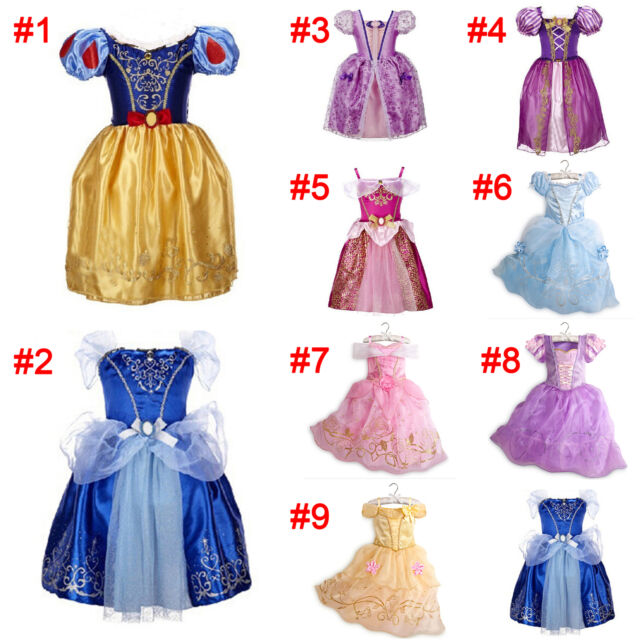 Girls Fairytale Princess Dress Kids Fancy Costume Party Dress Outfit 2-10 Years
