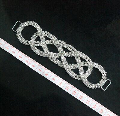 2ROWS Full Crystal Rhinestone Bikini Connector Metal Chain For Swimming Wear