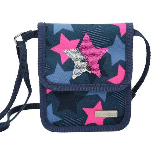 Top Model poitrine sachet coup d/'paillettes bleu foncé avec étoile 10414